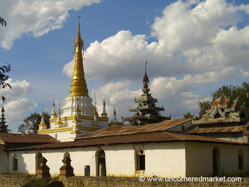 Local Buddhist Pagoda and Monastery - Inle Lake, Burma