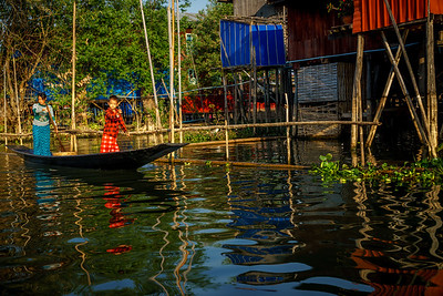 Floating gardens of Inle Lake.