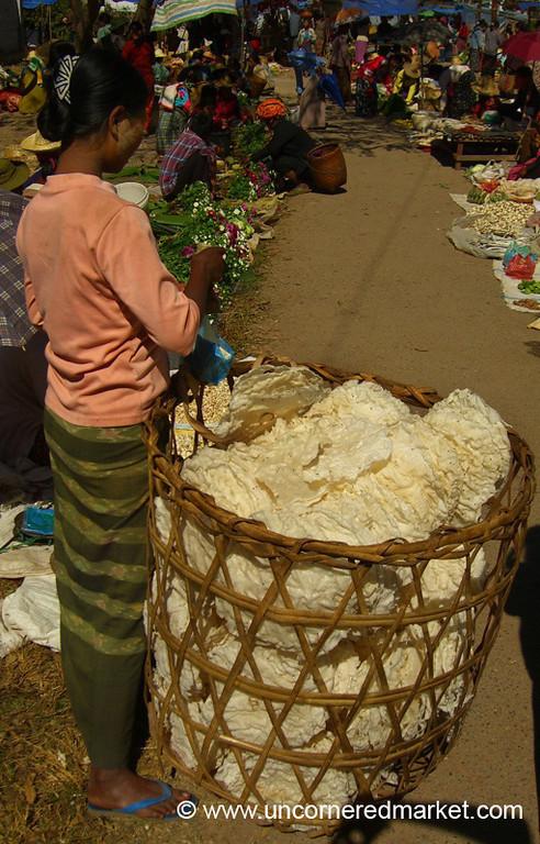 Burmese Woman and Basket - Kalaw, Burma