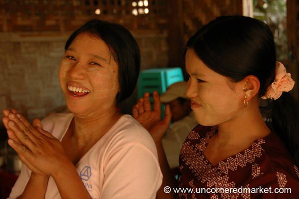 Burmese Girls Having Fun - Mandalay, Burma