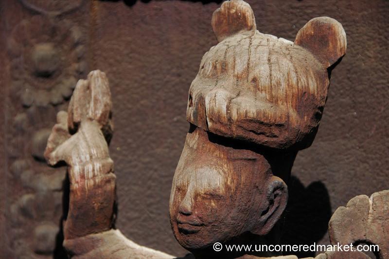 Wooden Sculpture, Teak Monastery - Mandalay, Burma