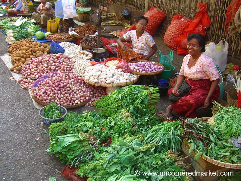Street Vegetable Market - Rangoon, Burma (Yangon, Myanmar)