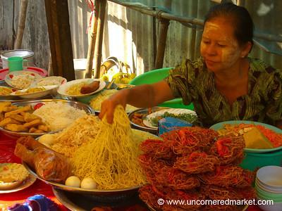 Burmese Street Soup Stand - Rangoon, Burma (Yangon, Myanmar)
