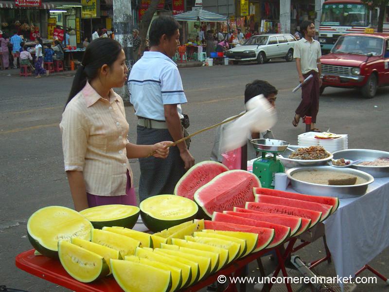 Watermelon Stand - Rangoon, Burma (Yangon, Myanmar)