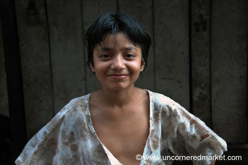 Girl Smiling - Rangoon, Burma (Yangon, Myanmar)