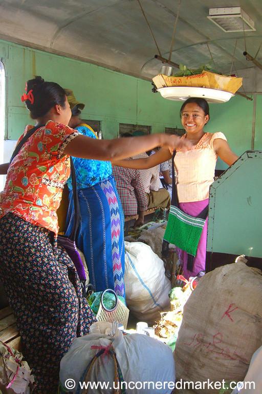 Circular Train Vendors - Rangoon, Burma (Yangon, Myanmar)