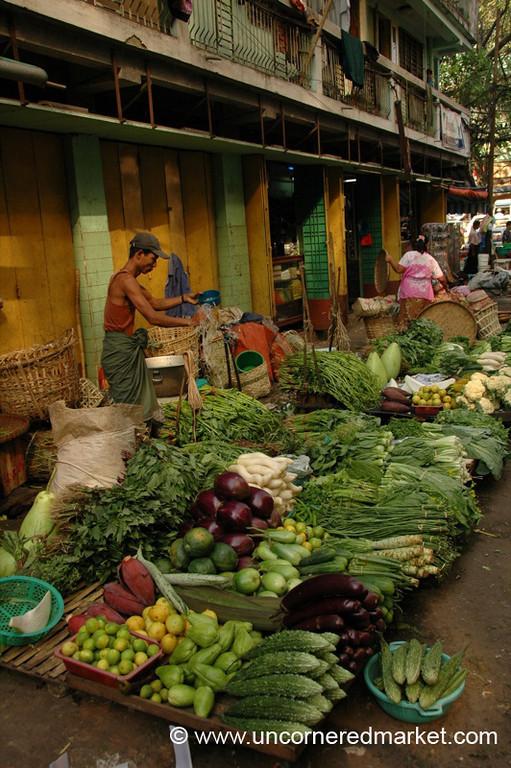 Theingyi Zei Vegetable Market - Rangoon, Burma (Yangon, Myanmar)