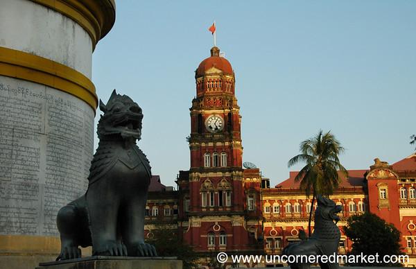 High Court and Independence Monument - Rangoon, Burma (Yangon, Myanmar)
