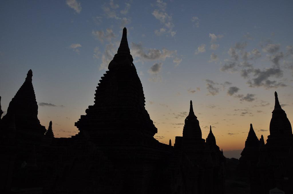 Temples of Bagan at Sunset