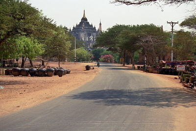 We rented bikes and rode around Bagan and nearby Nyaung U...