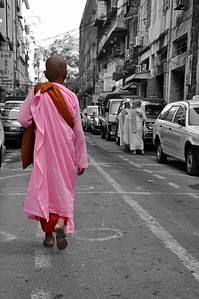 Pink clothing for Female Monks