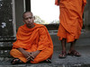 Buddhist monk in Angkor Wat...