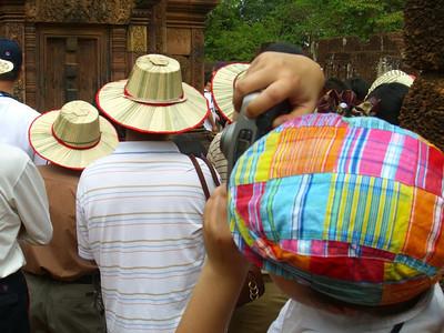 Tourists at Banteay Srei - Angkor, Cambodia