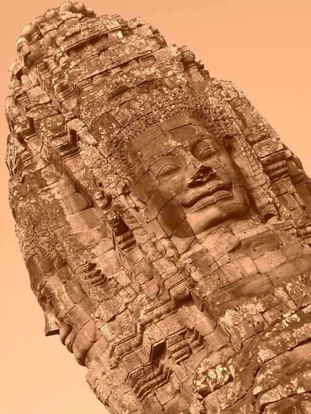 A Smiling Face at Bayon - Angkor, Cambodia