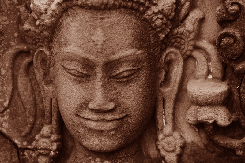 Secret Smile - Angkor, Cambodia