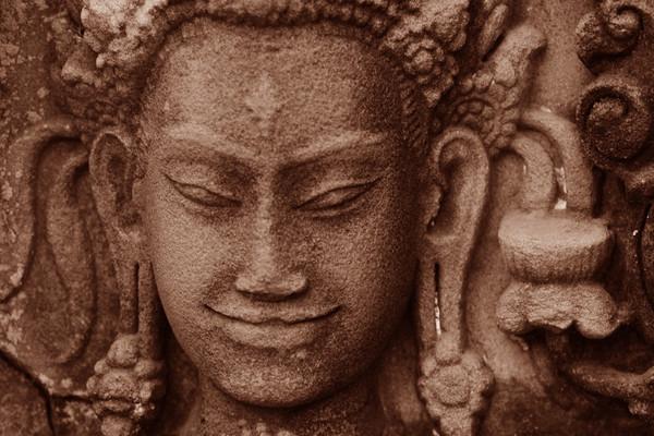 Secret Smile - Angkor, Cambodia