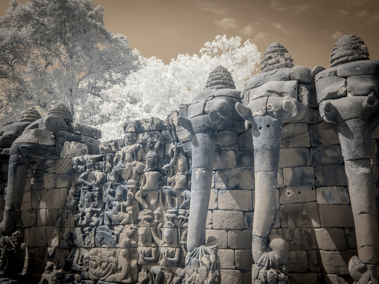 The Elephant Terrace at Phimeanakas.