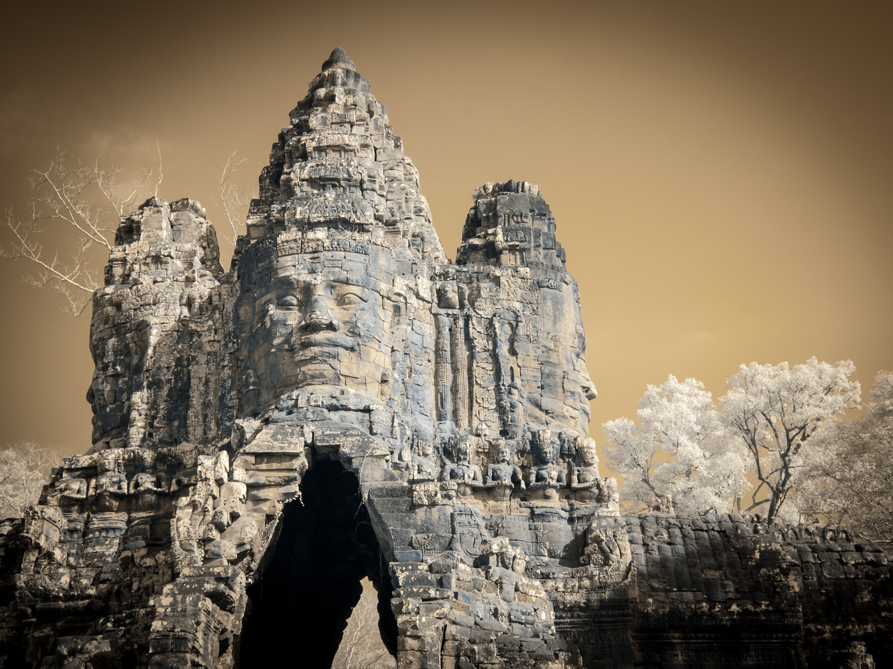 The South Gate, Angkor Thom.