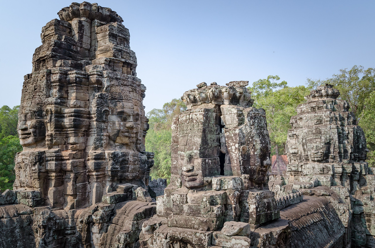 Face towers of Bayon.