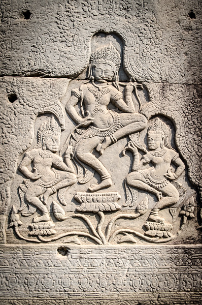 Hindu bas relief at the Bayon.