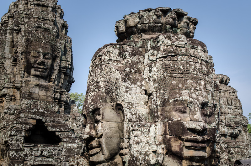 More face towers at The Bayon.