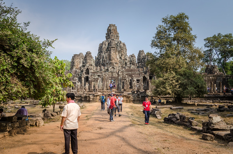 The Bayon viewed from the east.