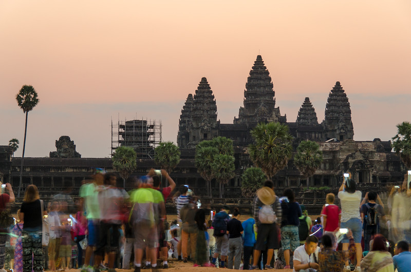 We got up well before dawn to be at Angkor Wat for sunrise. It was a bit of a bust, the light was never really good.