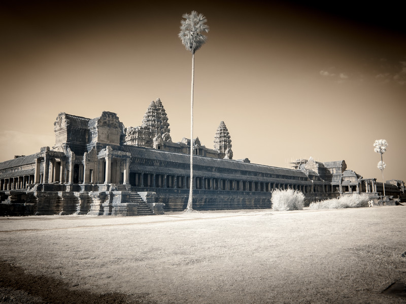Infrared shot at Angkor Wat.