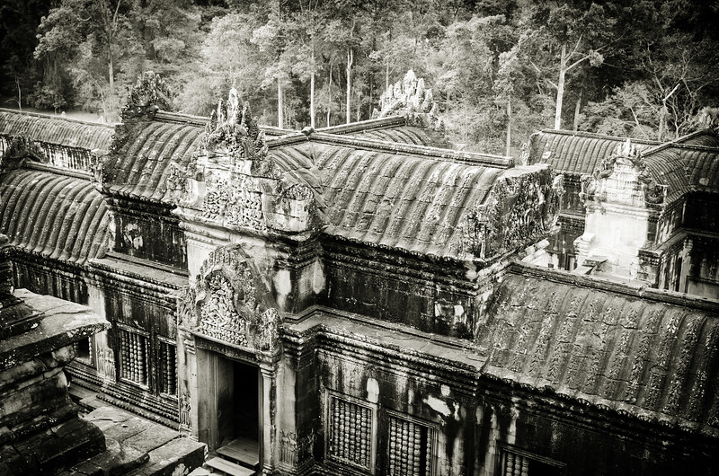 Angkor Wat in black and White.
