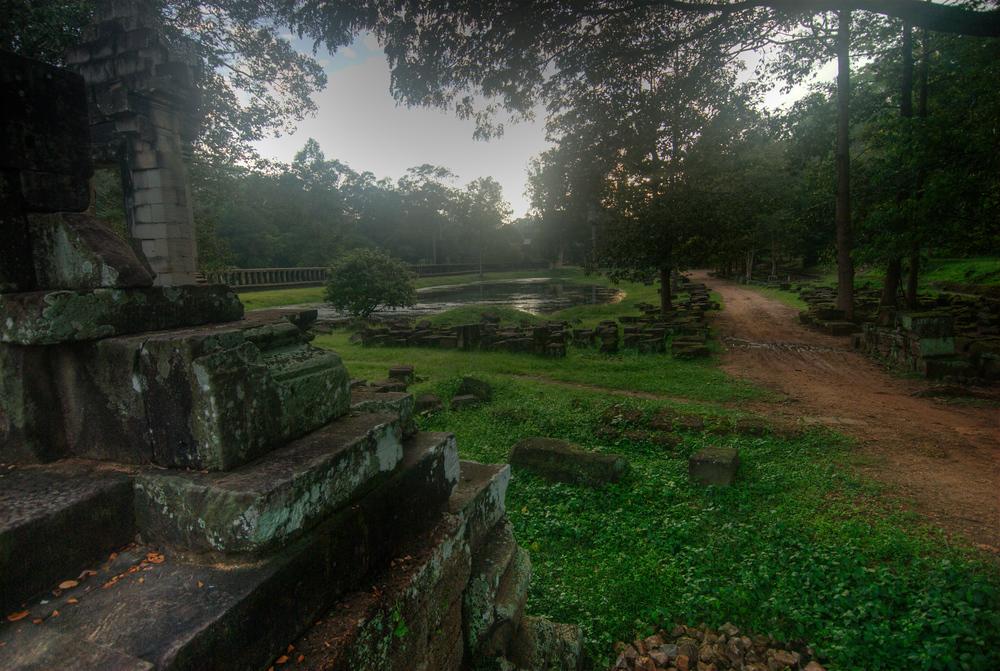Hidden temple in Angkor, Cambodia