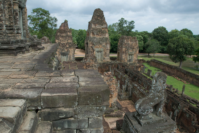 The Angkor Wat Temple complex, including statues