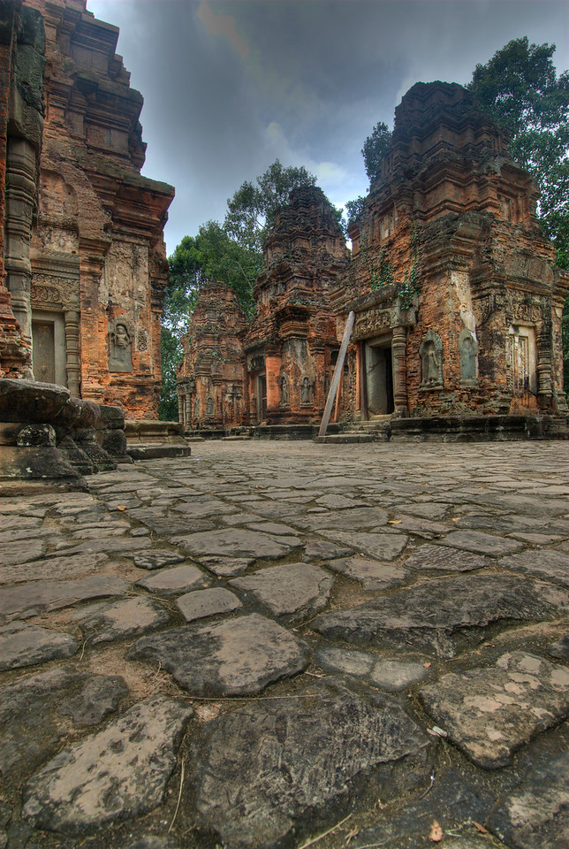 Ruins at Preah Ko Temple, Cambodia