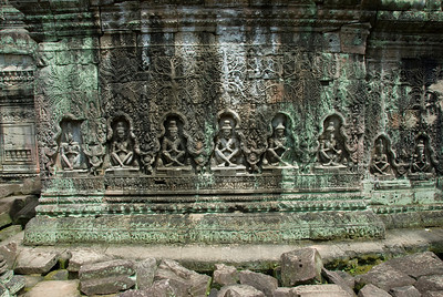Relief Carving at the Angkor Wat temple ruins