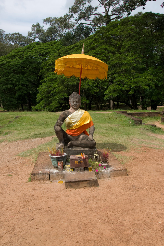 Buddha statue at Elephant Terrace in Siem Reap, Cambodia