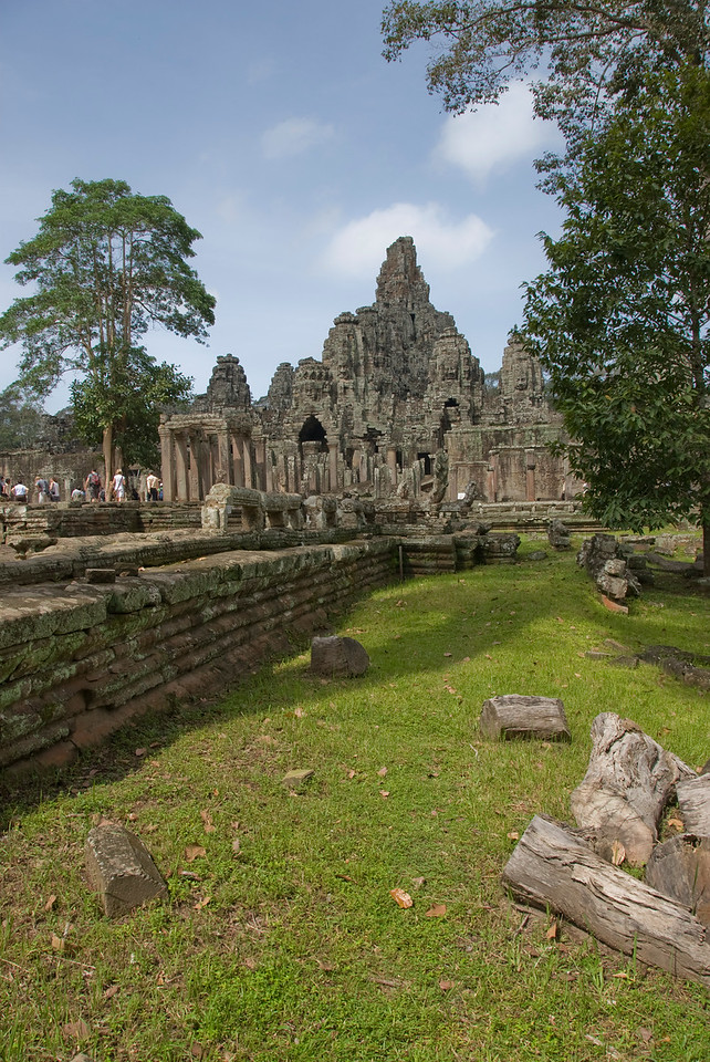 Shot of ruins from the grounds of Angkor Wat complex