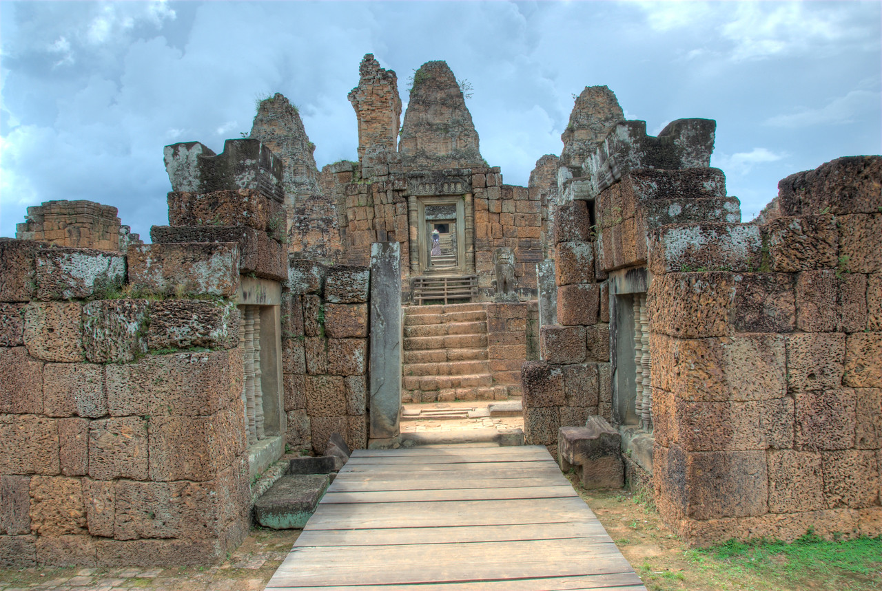 Stairway at the Angkor Wat Temple