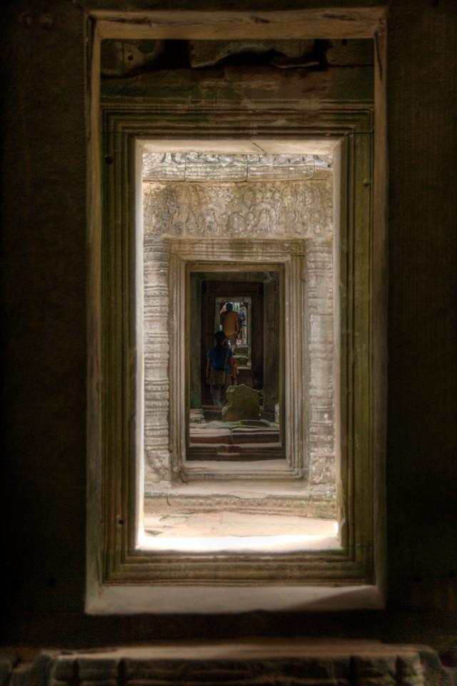 Series of doorways in Preah Kahn, Cambodia