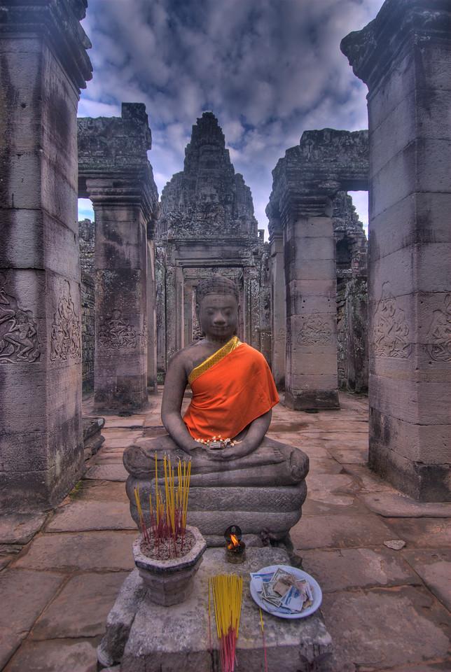 Buddha at Bayon Temple in Angkor Wat