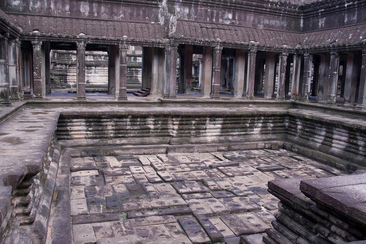 Angkor Wat Inner Courtyard in Siem Reap, Cambodia