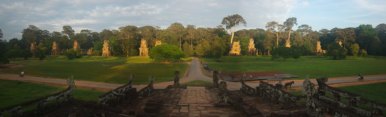 Panoramic view outside of Angkor Wat Temple Complex
