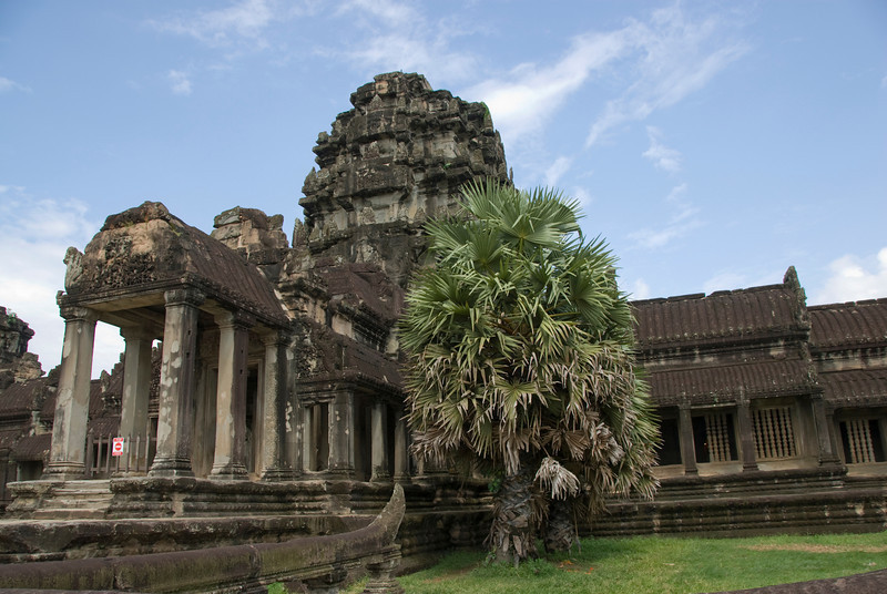 Stunning architecture near the entrance to Angkor Wat