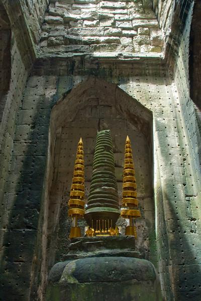 Buddhist Shrine inside the Angkor Wat temple