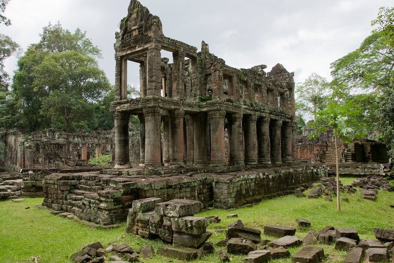 Landscape view of back building at Angkor Wat complex