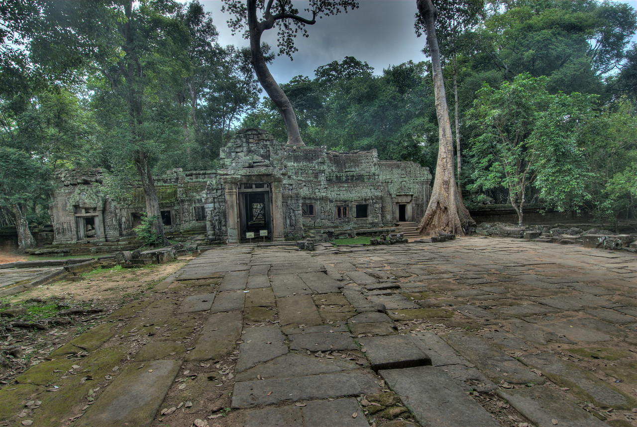 Open space in front of Ta Prohm ruins