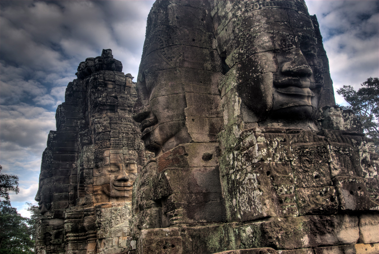 Another perspective of faces at the Bayon Temple