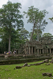 Tour Group at Angkor Wat Temple Complex