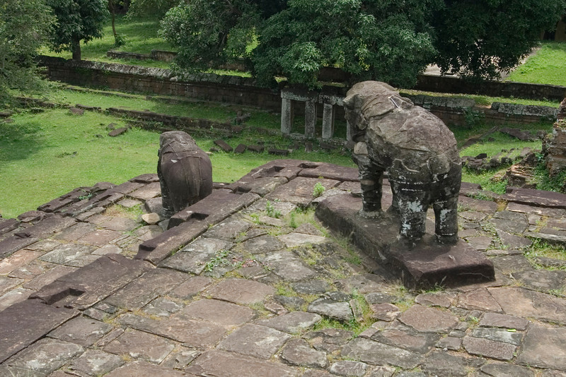 Elephant Statues inside the Angkor Wat Temple complex
