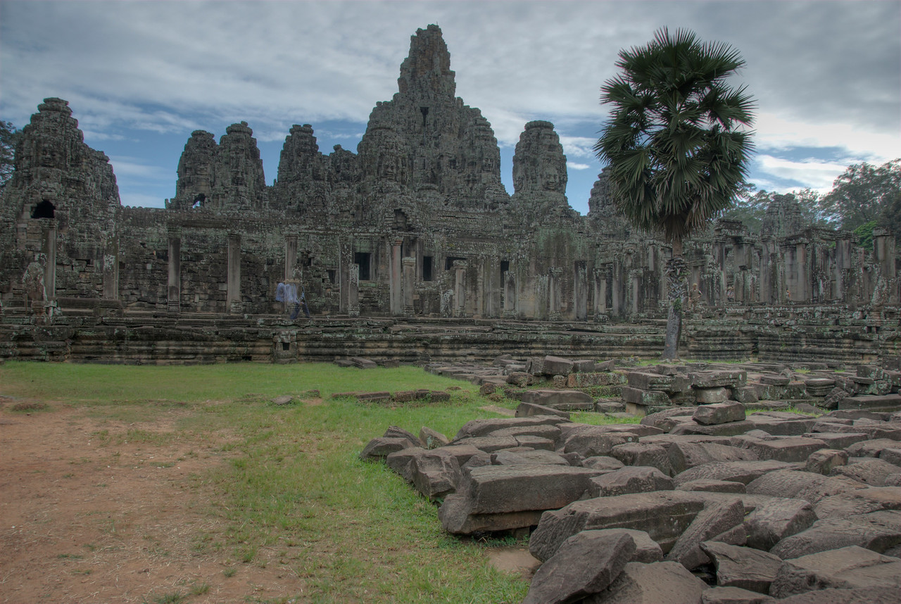 A shot outside Bayon Temple in Siem Reap, Cambodia