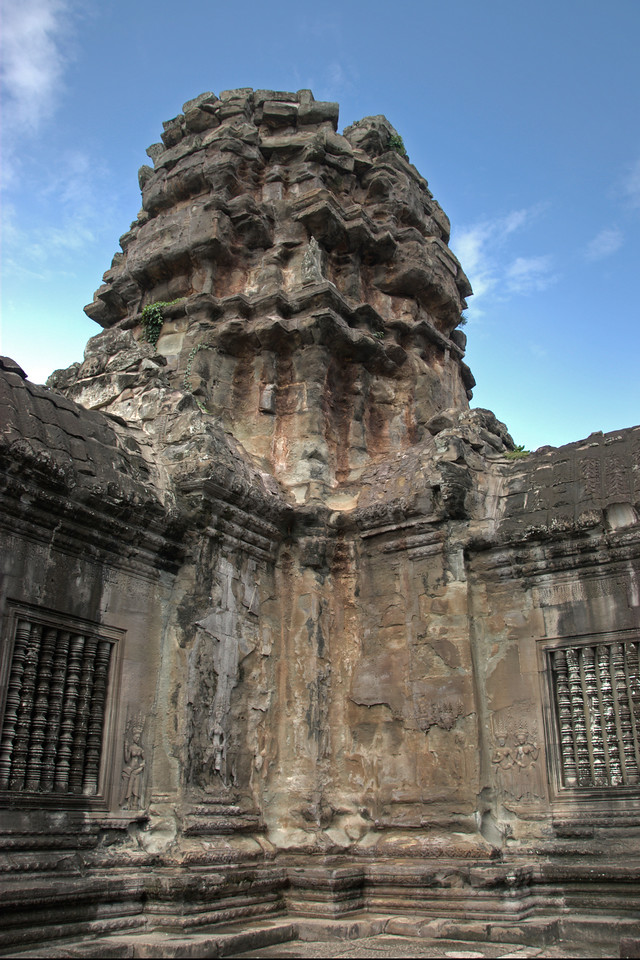 One of the towers at Angkor Wat complex in Cambodia