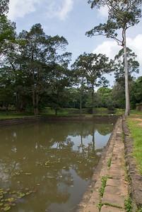 Murky pool at Royal Palace in Siem Reap, Cambodia
